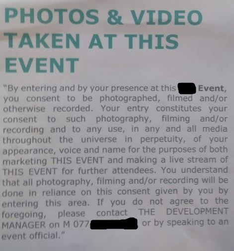 photography consent notice
