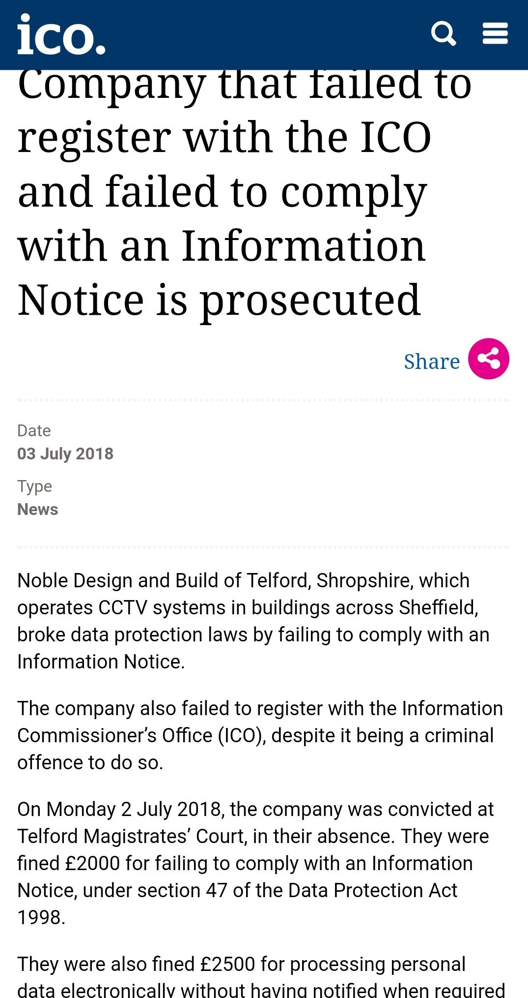 ico company failed to register